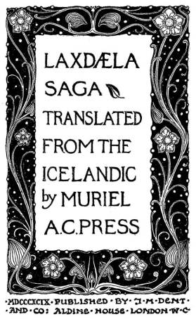 Cover, Laxdæla Saga, Muriel A. C. Press, 1880-GutenbergDOTorg