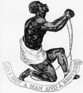 """Official medallion of the British Anti-Slavery Society (1795)"" by Josiah Wedgwood (1730-1795) and either William Hackwood or Henry Webber; ""Josiah Wedgewood...produced the emblem as a jasper-ware cameo at his pottery factory. Although the artist who designed and engraved the seal is unknown, the design for the cameo is attributed to William Hackwood or to Henry Webber, who were both modelers at the Wedgewood factory."" (http://www.pbs.org/wgbh/aia/part2/2h67.html PBS]) - British Abolition Movement. Licensed under Public Domain via Wikimedia Commons - http://commons.wikimedia.org/wiki/File:Official_medallion_of_the_British_Anti-Slavery_Society_(1795).jpg#mediaviewer/File:Official_medallion_of_the_British_Anti-Slavery_Society_(1795).jpg"