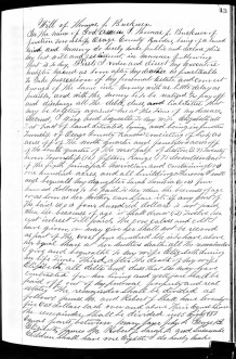 BUCKNER, Thomas Jefferson (1810-1875)_Will, p. 1of2_CROPPED