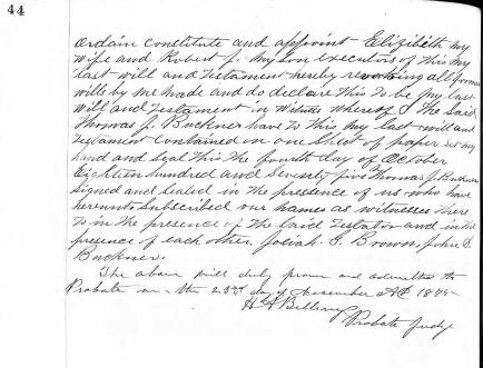 BUCKNER, Thomas Jefferson (1810-1875)_Will, p. 2of2_CROPPED